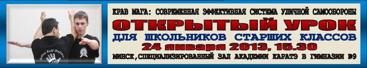 Крав мага в Минске Открытый урок 01-2013