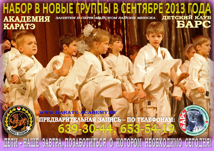 Академия каратэ Набор-2013