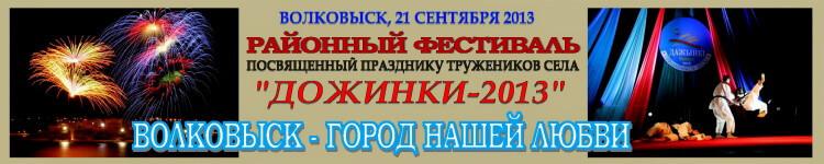 Фестиваль Дожинки-2013 Баннер