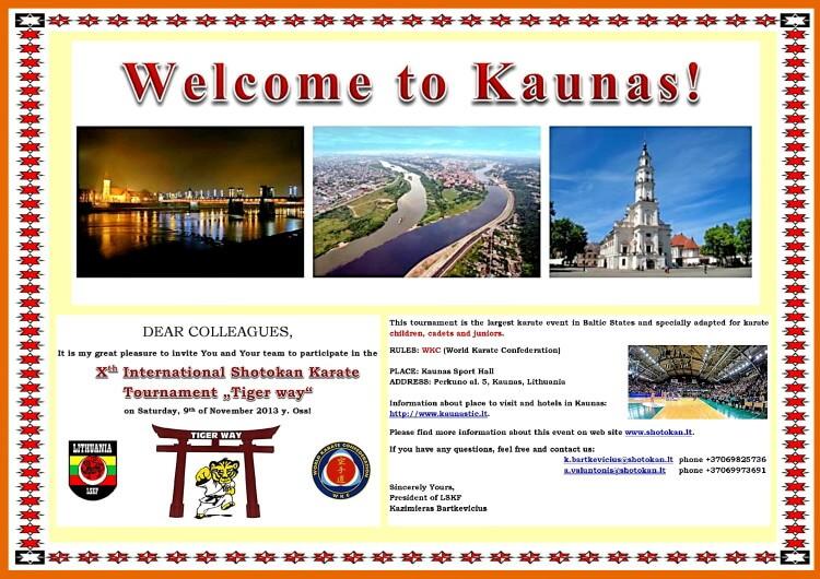 Каунас-2013 Приглашение
