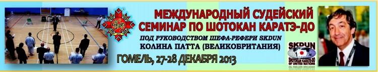 Семинар Патта Гомель-2013 Баннер