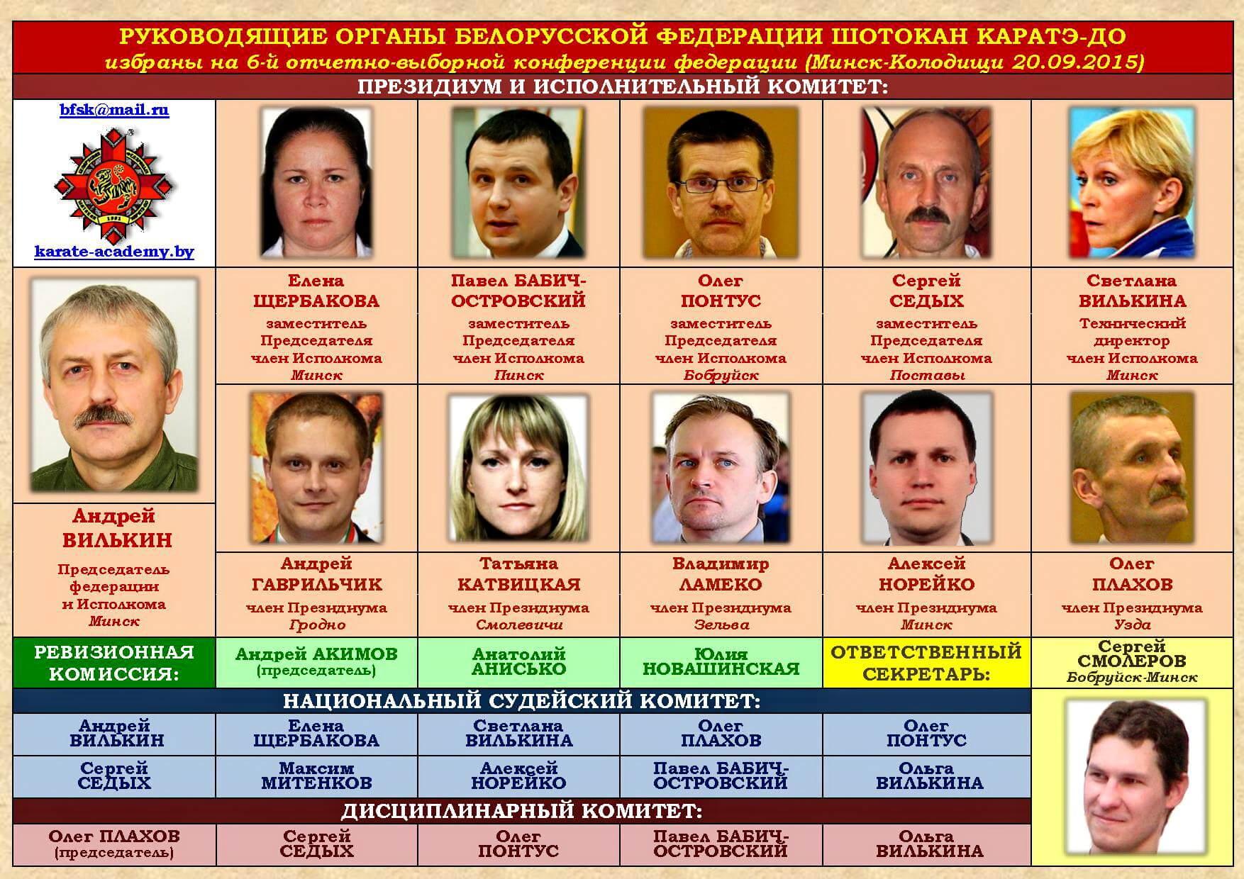 БФШК Руководящие органы 2015-09