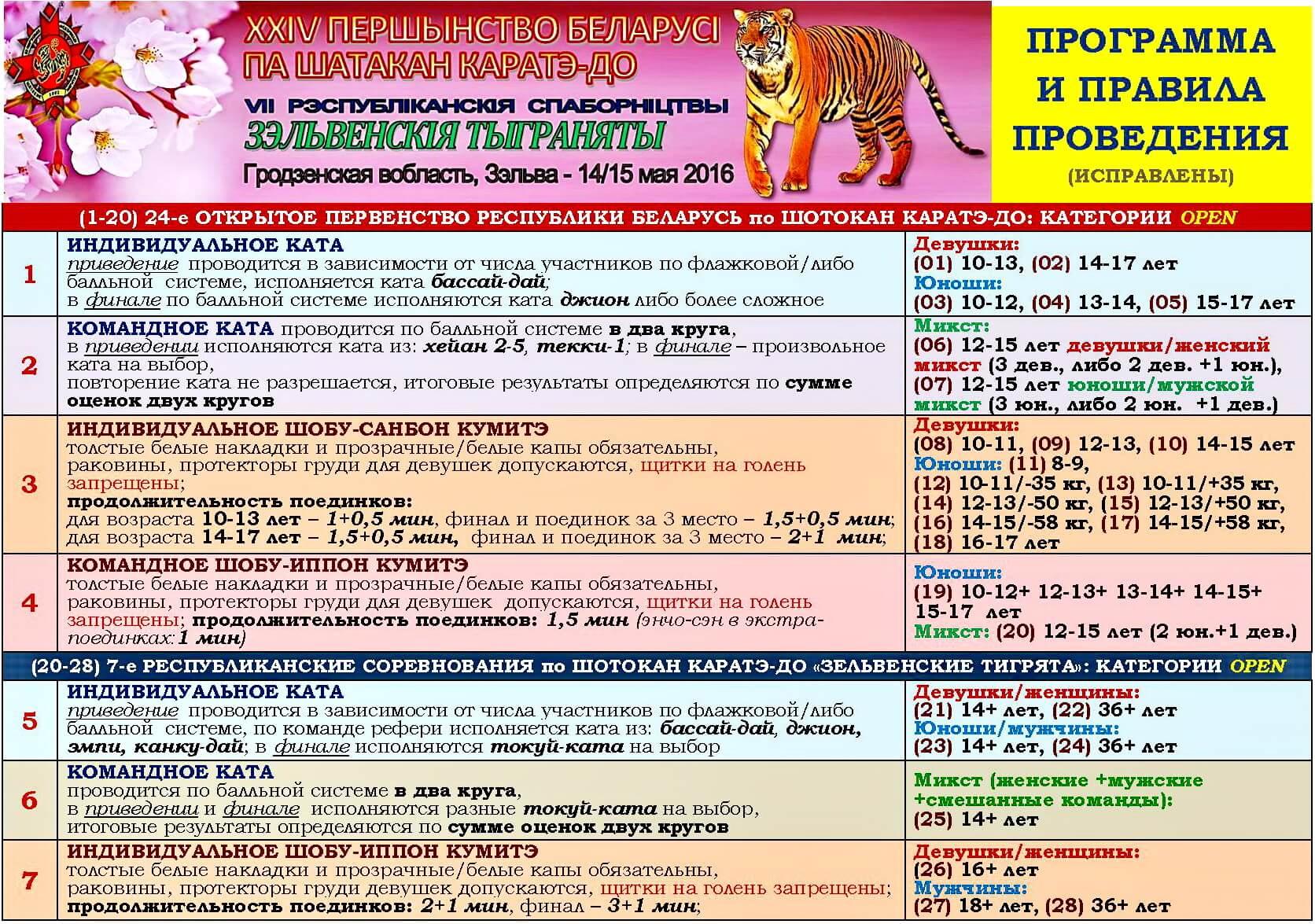 Зельва-2016 Программа и правила-1new